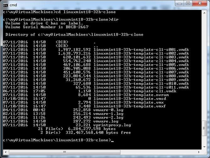 vmware-machine-file-listing
